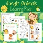 Jungle Animal Preschool Printable Pack