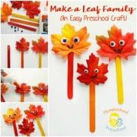 Make A Leaf Family: An Easy Preschool Craft
