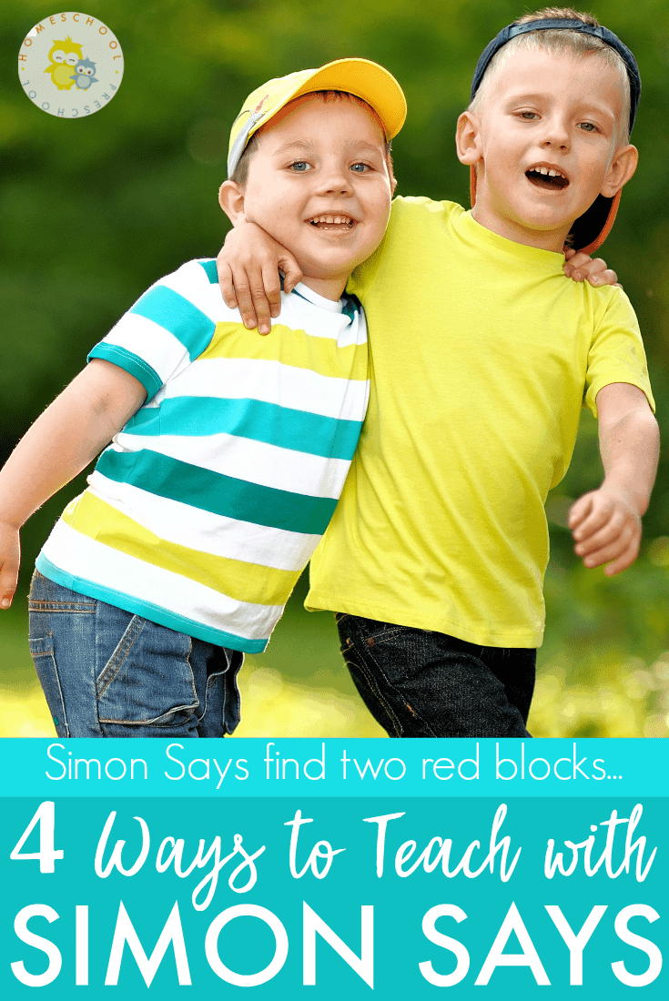 Simon Says is a wonderful game for those bad weather days you don't want to go outside and play. It doesn't require any special equipment, teaches kids to pay attention, and preschool kids adore it.