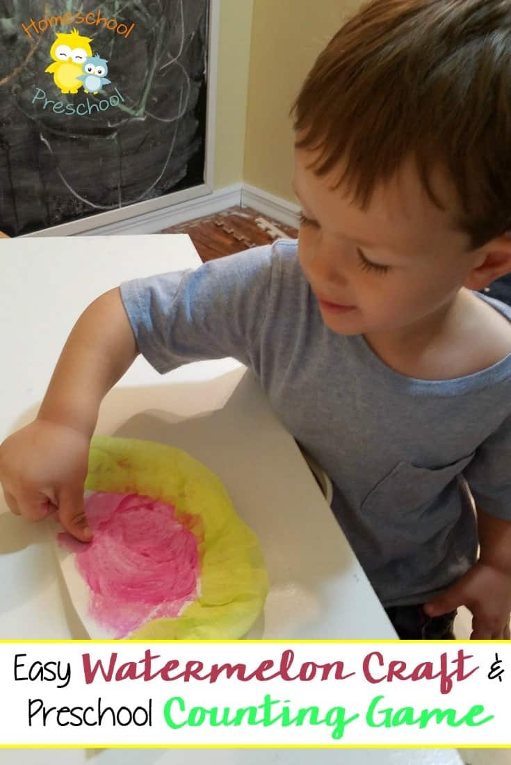 My son loves sweet, drippy, juicy watermelon. We've been enjoying a lot of it this summer. So I knew he'd be excited about these simple, fun watermelon activities. And I'm sure your preschooler will be too. | homeschoolpreschool.net