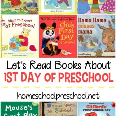 First Day of Preschool Books