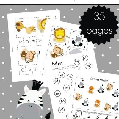 Free Jungle Animal Printables