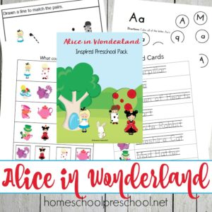 Alice in Wonderland Printables for Preschoolers