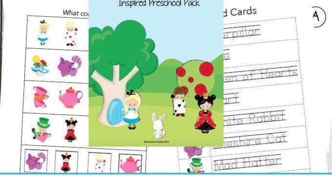 Alice in Wonderland Printables for Preschoolers
