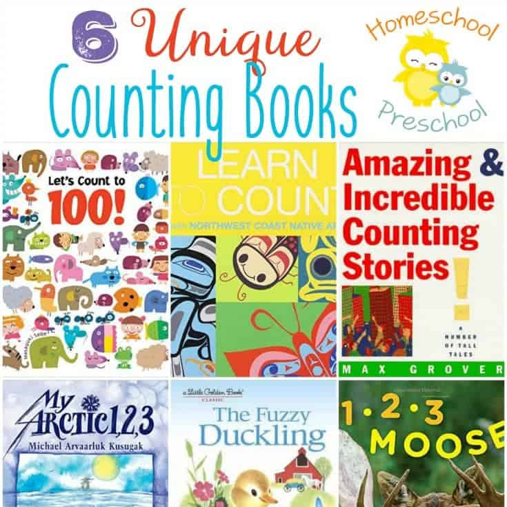 Counting spoons with preschoolers gets old fast, and there are only so many batches of cookies we can bake. Instead of counting spoons or baking cookies, read one of these unique counting books with your preschoolers. | homeschoolpreschool.net