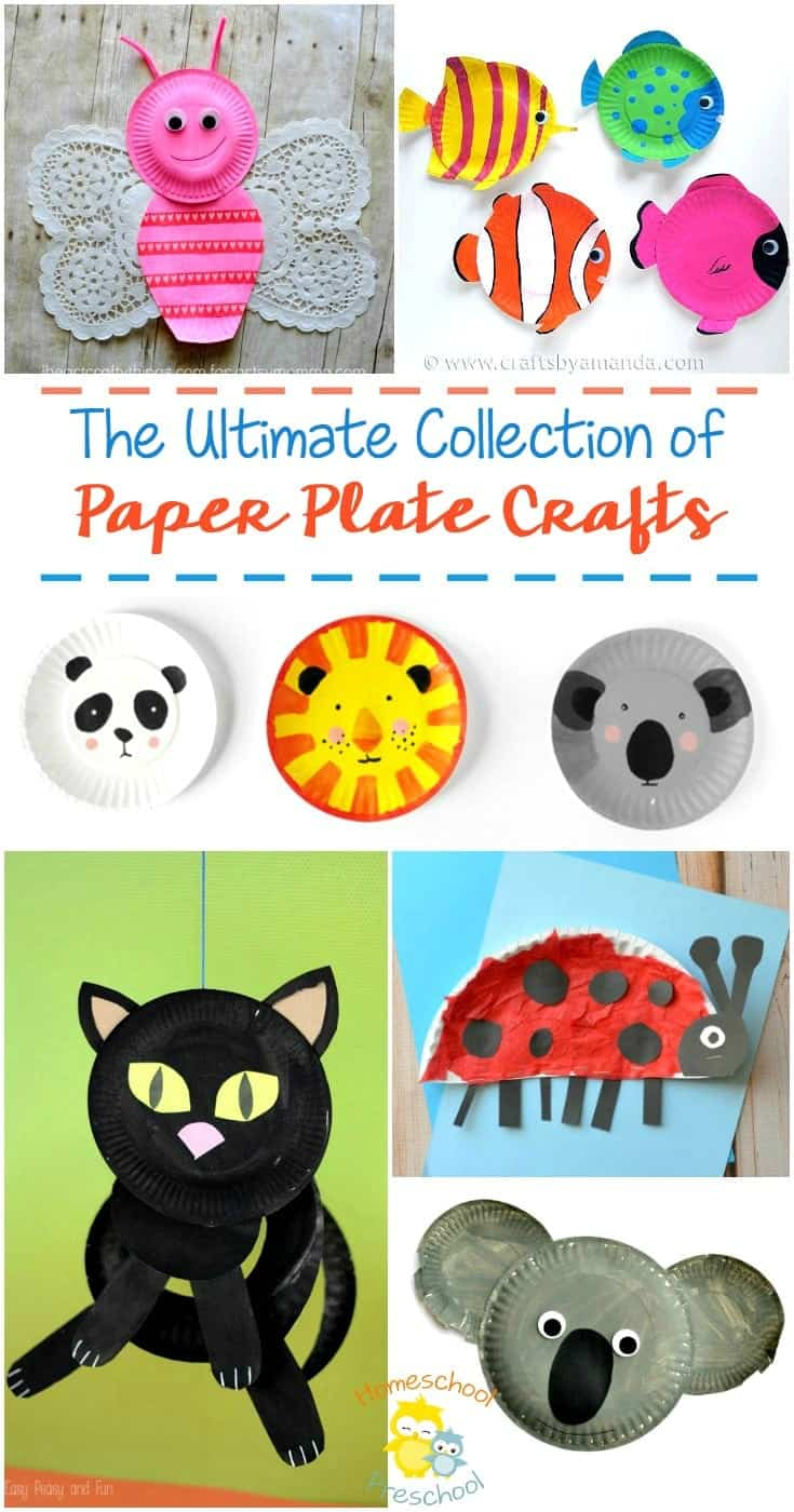 Getting ready for a crafting session with your little ones? Got a bunch of paper plates sitting in your pantry? We've got a whole lot of ideas for paper plate crafts to kick start your imagination and get you crafting. | homeschoolpreschool.net
