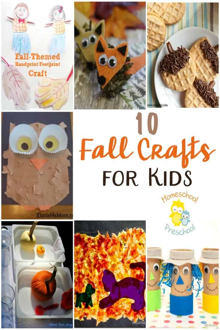Fall has finally arrived! Check out these amazing fall crafts for kids. Which one will you try first? | homeschoolpreschool.net