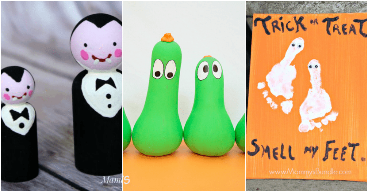 Here's a great collection of Halloween crafts that are cute not scary. They're perfect for little hands. And, they'll get you in the Halloween spirit for sure!