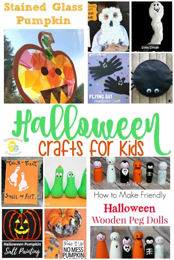 Are your preschoolers ready to get their Halloween craft on? You have to check out these amazing craft ideas that are perfect for little hands. From ghosts and bats to pumpkins and spiders, there's something in this collection for everyone! | homeschoolpreschool.net