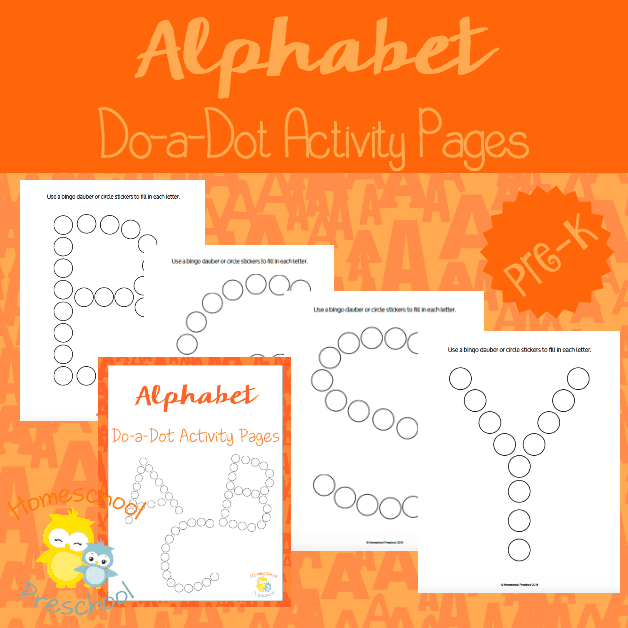 Alphabet Dot Activity Pages for Preschoolers