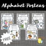Printable Alphabet Posters and Flash Cards