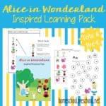 Alice in Wonderland Printable for Tots and Preschoolers