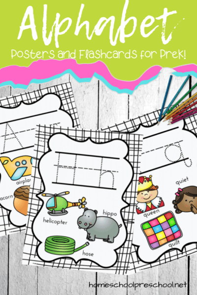 Download this set of free alphabet posters! They're perfect for home and school, and will help your little ones with letter recognition and beginning sounds.