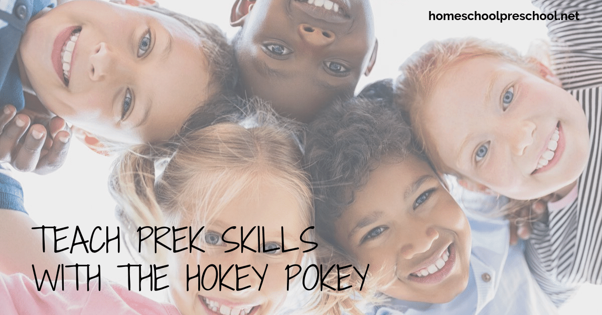 You won't believe how easy it is sneak some learning into a Hokey Pokey preschool game! It's a fun and engaging way to teach body parts, positions, and more.