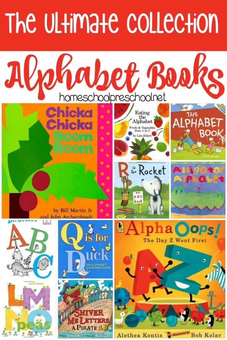 Are you gettingAre you getting ready to teach your kids the alphabet? Introduce your kids to letters and their sounds with this amazing collection of alphabet books for kids! | homeschoolpreschool.net ready to teach your kids the alphabet? Introduce your kids to letters and their sounds with this amazing collection of alphabet books for kids!
