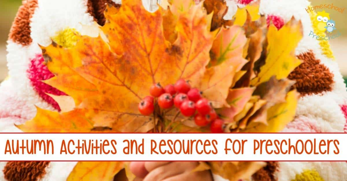 Autumn has arrived! Celebrate autumn with this awesome collection of autumn activities and resources for preschoolers! | homeschoolpreschool.net