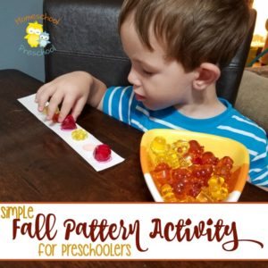 Simple Fall Pattern Activity for Preschoolers