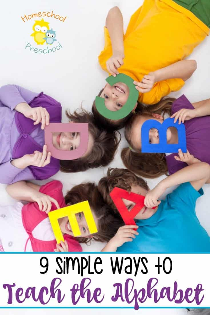 If your preschooler is ready to learn the alphabet, you have to check out these nine simple ways to teach the alphabet. You won't believe how easy it is to introduce your little ones to the ABCs! | homeschoolpreschool.net