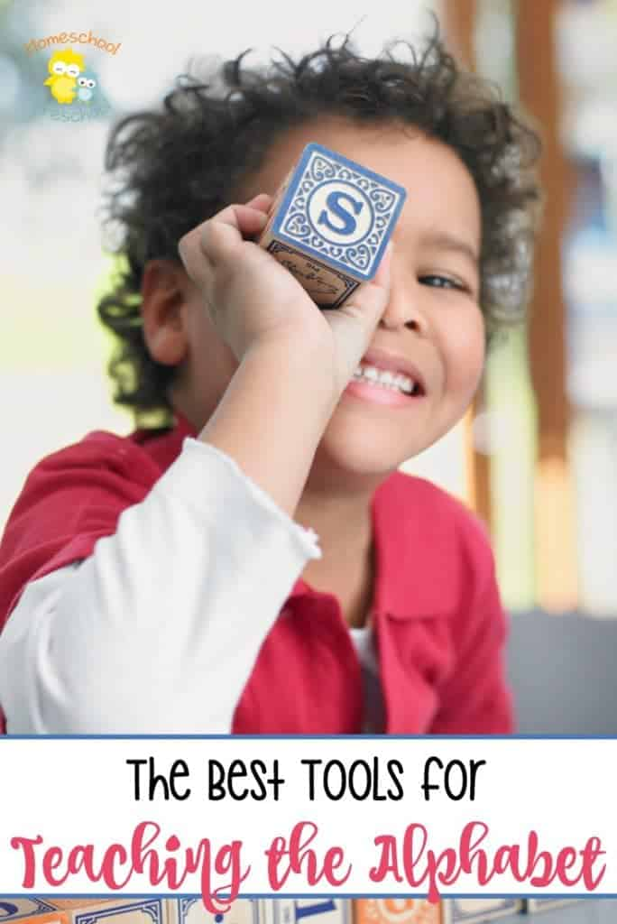 These are the best tools for teaching the alphabet. There are resources for auditory, visual, and kinesthetic learners. Arm yourself with a few of these tools, and your preschooler will be well on their way to learning to read. | homeschoolpreschool.net