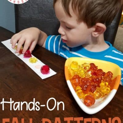 Simple Hands-On Fall Patterns Preschool Activity