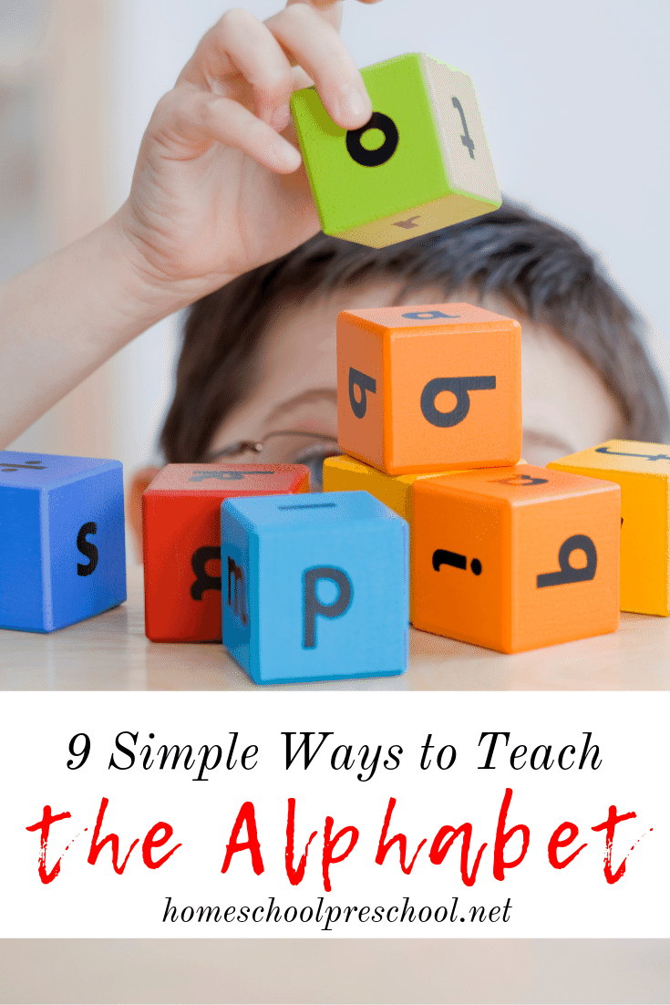 Don't let the thought of teaching the alphabet intimidate you. Come discover nine simple ways to teach the alphabet to your preschoolers.