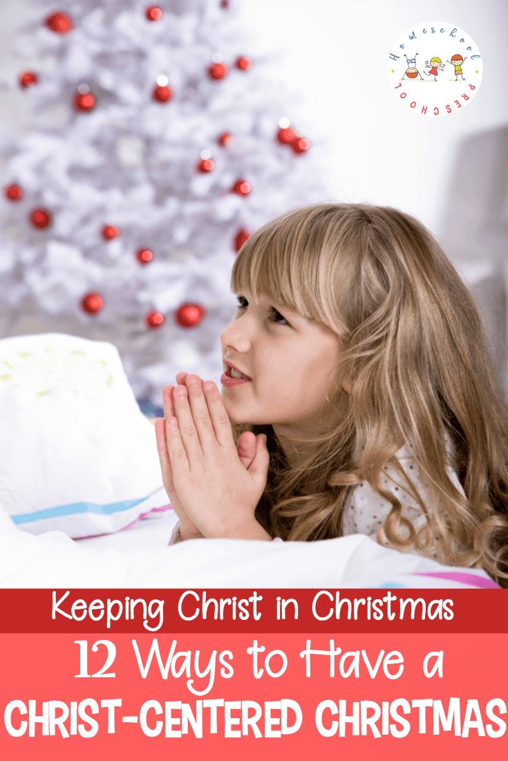 How can we keep the focus on Christ in the midst of all of the holiday festivities? Here are twelve Christ centered Christmas ideas you can use with your preschoolers.