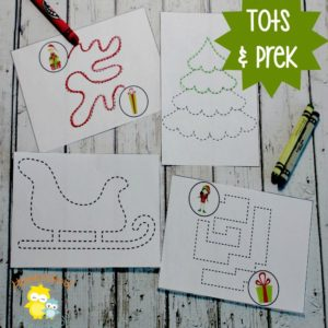 Christmas Printable Tracing Pages for Preschoolers