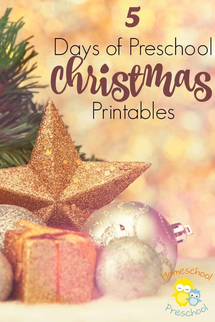 Don't miss this awesome series! For five days, I will be releasing a brand new Christmas printable for preschoolers! | homeschoolpreschool.net