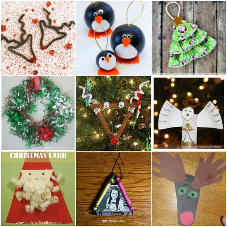 Crafts and activities are the perfect way to entertain for Christmas crafts for little ones
