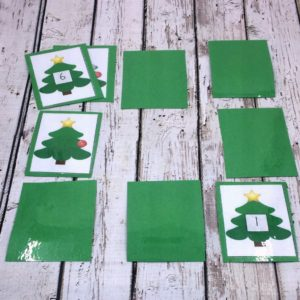 Christmas Counting Memory Game