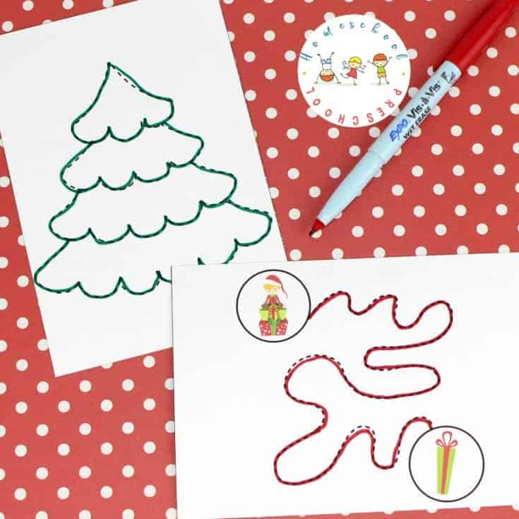 Christmas Tracing Pages for Fine Motor Practice