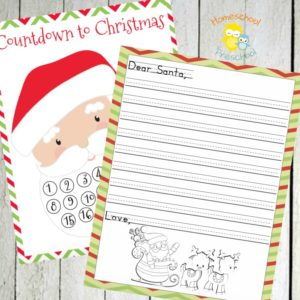 Christmas Countdown and Letter to Santa