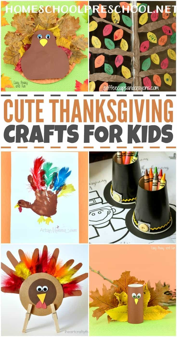 Are you looking for some cute Thanksgiving crafts to do with your little turkeys? Look no further! I've rounded up twenty amazing crafts that your preschoolers are sure to love! | homeschoolpreschool.net