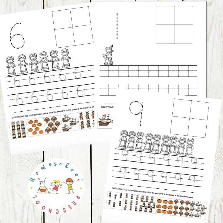 Thanksgiving Preschool Number Activities