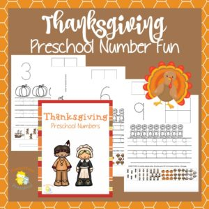 Thanksgiving Preschool Number Activities