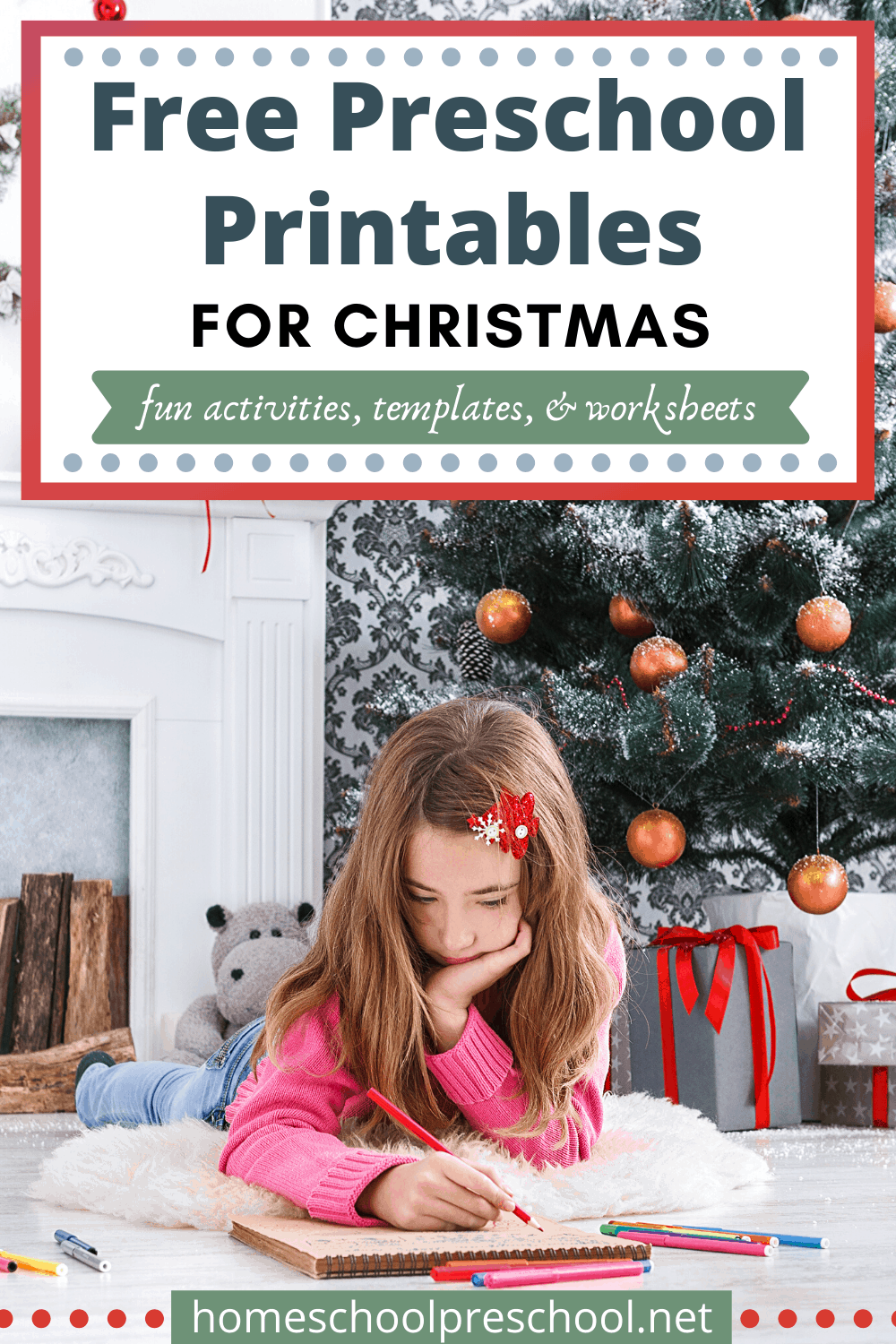Whether you're looking for worksheets, templates, or activities to do with your kids, don't miss this collection of preschool Christmas printables!