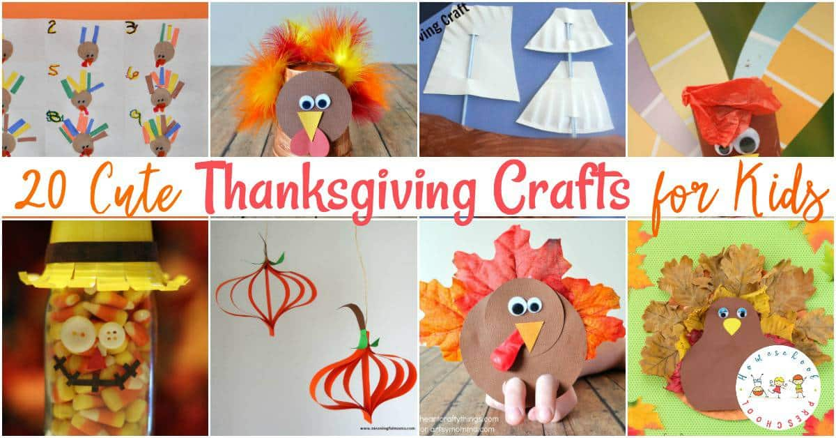 Are you looking for some cute Thanksgiving crafts for kids? Look no further! I've rounded up twenty amazing crafts that your preschoolers are sure to love!