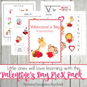 Valentines Day Preschool Printable Pack