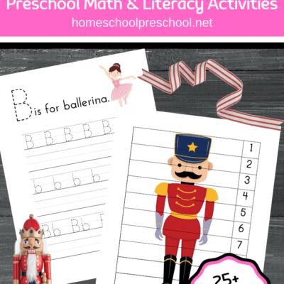 Printable Nutcracker Activities for Preschoolers