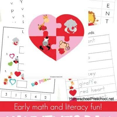 Printable Preschool Valentines Day Learning Pack