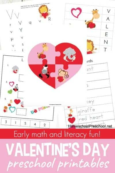 These preschool Valentines Day learning activities are sure to put your little ones in the mood to learn while they celebrate the ones they love!