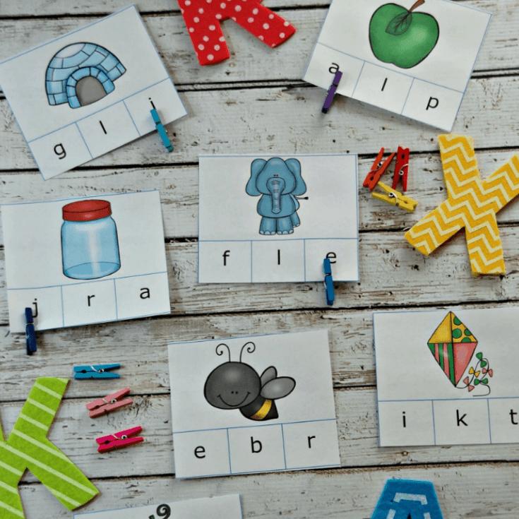 Beginning Sounds Printable Alphabet Clip Cards