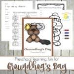 Groundhog Day Preschool Printable