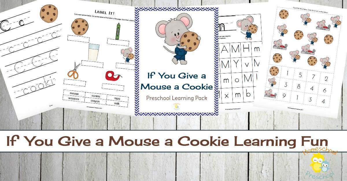 If You Give a Mouse a Cookie Preschool Printable