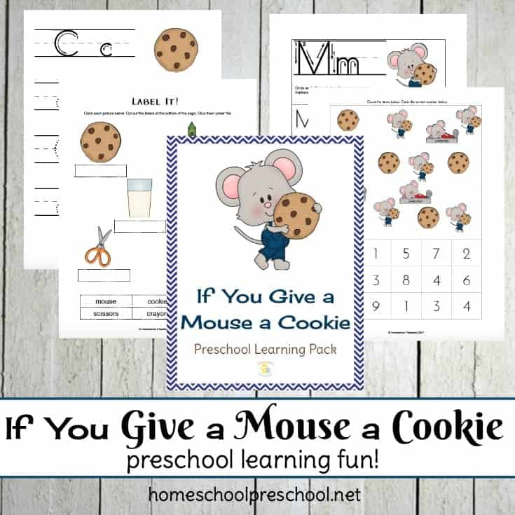 If You Give a Mouse a Cookie Coloring Page 3 - FamilyEducation | 735x735