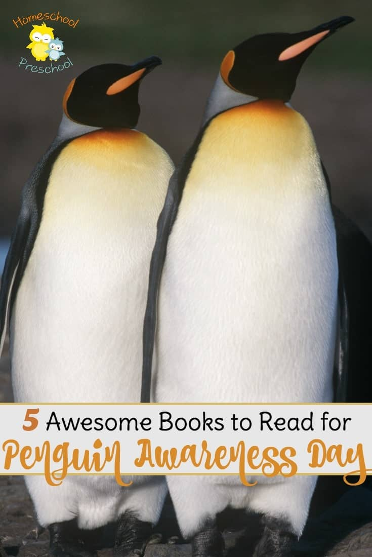 Preschoolers love penguins! Here are 5 amazing penguin books to read as you celebrate Penguin Awareness Day on January 20! | homeschoolpreschool.net