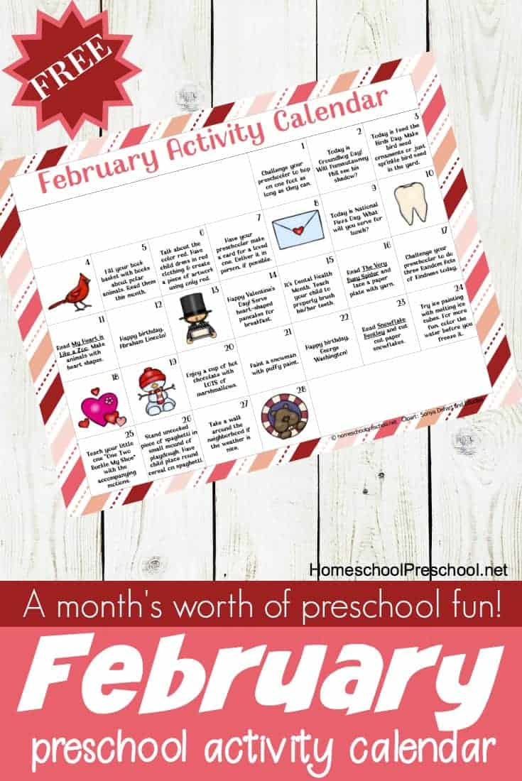 photo relating to Free Preschool Calendar Printables named The Top February Tot and Preschool Match Calendar
