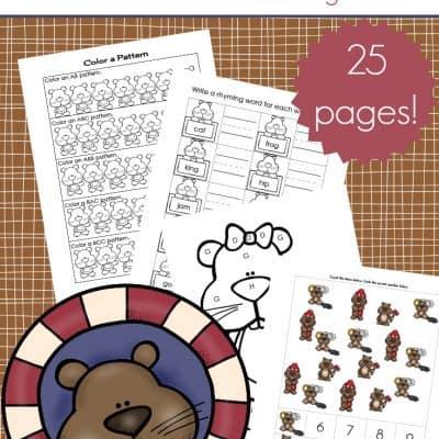 Printable Groundhog Day Activities for Preschoolers