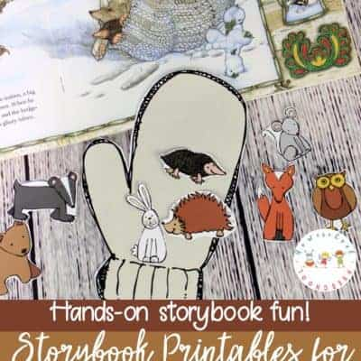 The Mitten Story Printable and Hands-On Fun