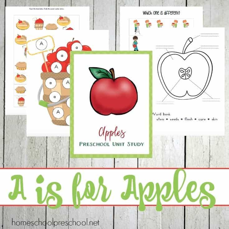 Preschool Apple Activities and Printables
